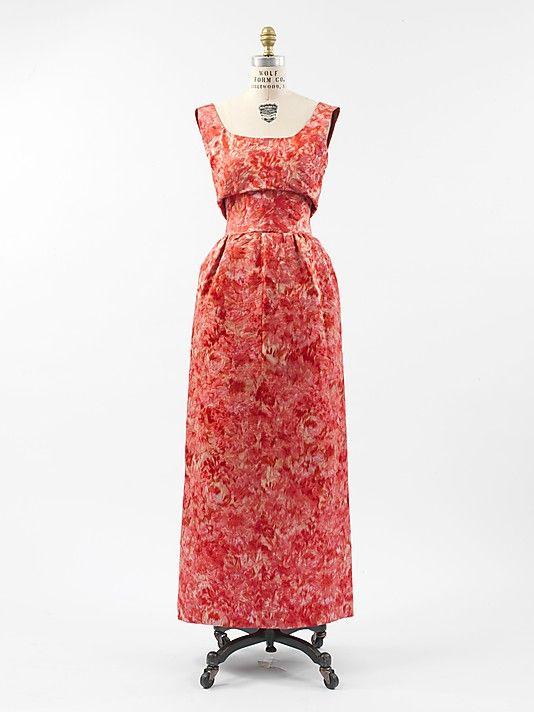 Cristobal Balenciaga, Evening dress, silk, 1959-1960