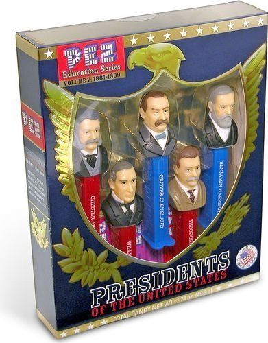 Presidents of the United States PEZ Candy Dispensers: Volume 5 - 1881-1909 PEZ…