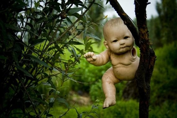 Isla de Las Munecas, you GUYS, an island filled with hundreds of hanging broken baby dolls. HORROR MOVIE.