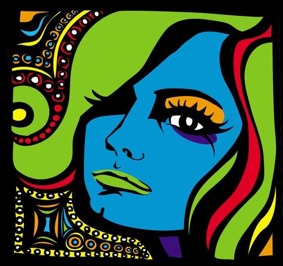 Love the colors! pop art portrait idea