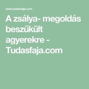 A zsálya- megoldás beszűkült agyerekre - Tudasfaja.com