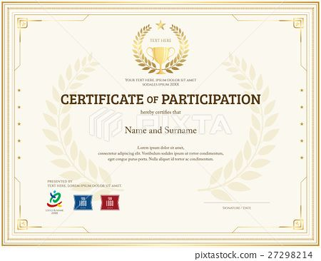 Best 25+ Certificate of participation template ideas on Pinterest - blank stock certificate template