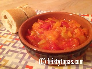 FEISTY TAPAS: Spanish Recipe: Pisto. Suitable for vegetarians and vegans. With or without the Thermomix.