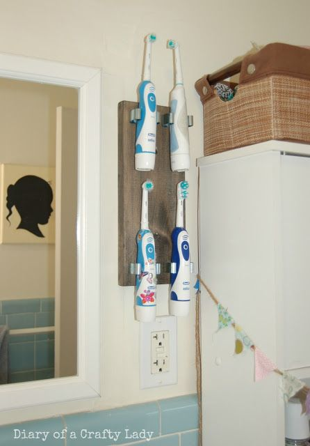 Diary of a Crafty Lady: Electric Toothbrush Holder