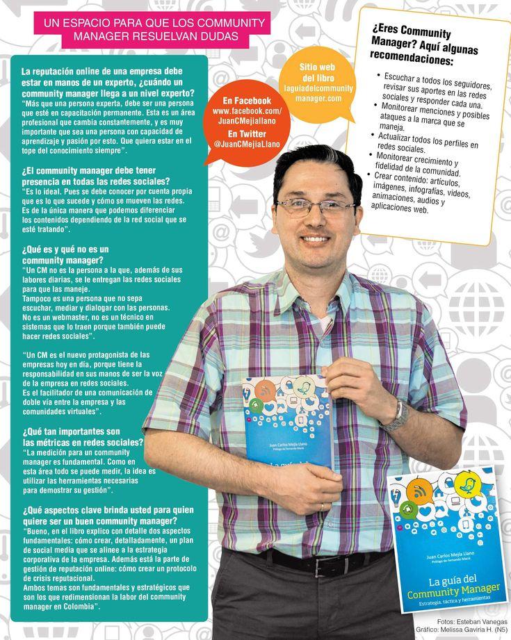 """Presentación del libro """"La guía del Community Manager: estrategia, táctica y herramientas"""" escrito por Juan Carlos Mejía Llano en el periódico El Colombiano de Medellín. Artículo y Twitcam en español."""