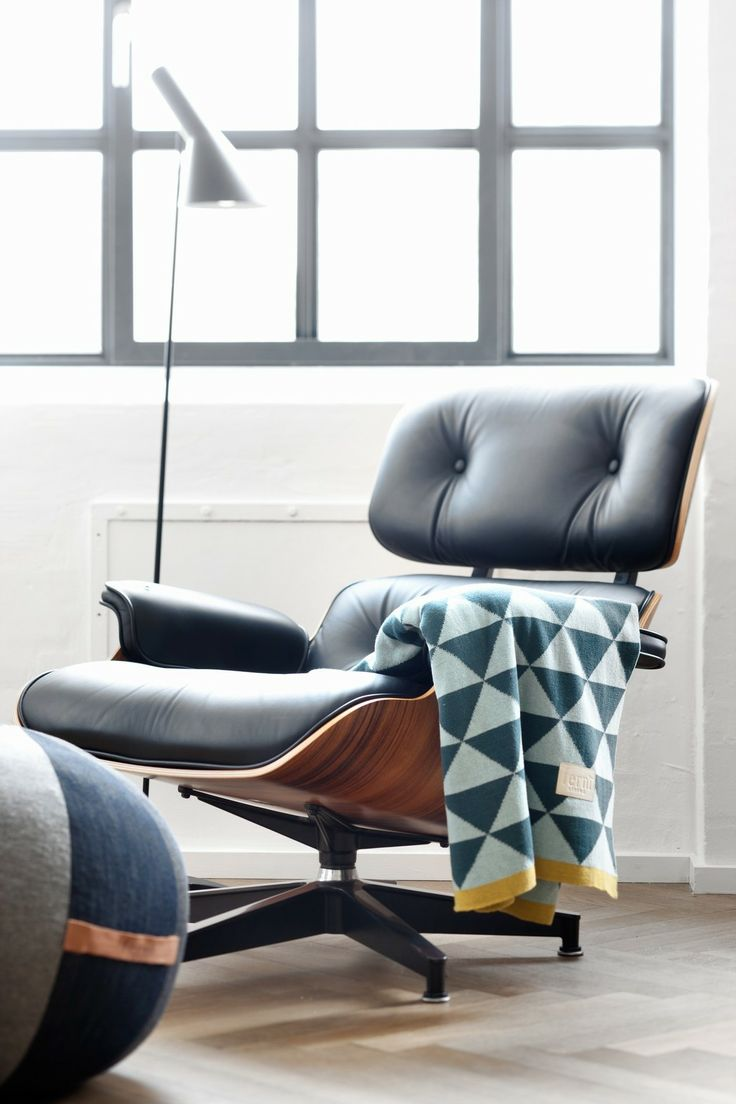 Remix blanket $185 from From the Owl. love that chair! (Eames Recliner)