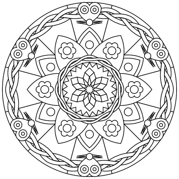 712 best Coloring Mandalas images on Pinterest
