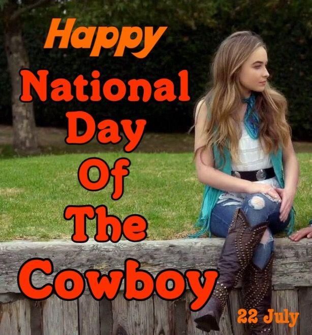 Happy National Day Of The Cowboy // Sabrina Carpenter // @sabaribello