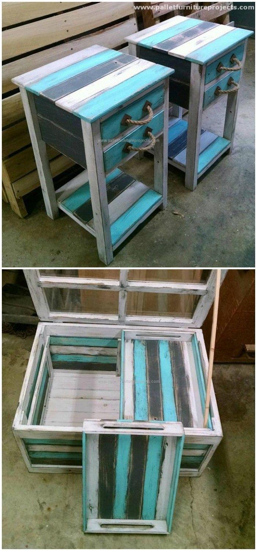best 25 pallet end tables ideas on pinterest decorating. Black Bedroom Furniture Sets. Home Design Ideas