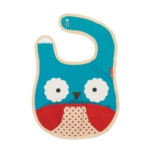 Skip Hop Zoo Bib- Owl. I love all the bibs in this line, but this owl one is my favorite of course. They are not only practical with the pocket in front, but totally adorable. Source: http://www.amazon.com/Skip-Hop-Zoo-Bib-Owl/dp/B004IEBU6C/ref=sr_1_18?s=baby-products=UTF8=1334547344=1-18