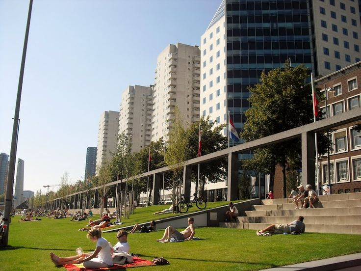 Maasboulevard in Rotterdam, Zuid-Holland: Another perfect place to spend a lazy summer day in Rotterdam.