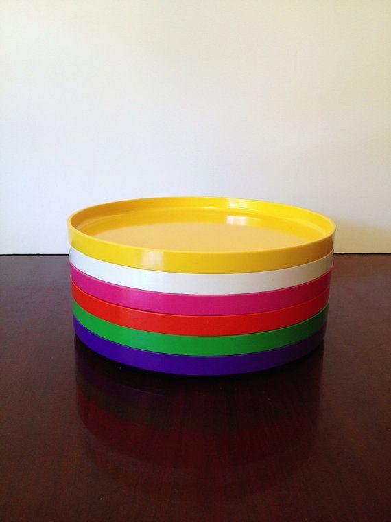 Vintage Massimo Vignelli Heller Design 6 Dinner Plates