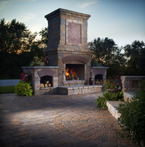 75 best Outdoor Fireplaces images on Pinterest | Outdoor ...