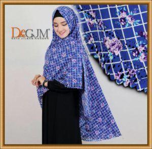 Khimar Motif Bunga Cantik Model Terbaru Izzu by Syahida Hijab