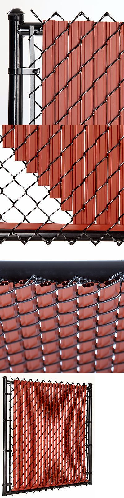 Fence Panels 139946: Chain Link Redwood Solitube™ Max-Privacy Slat For 6-Ft Fence Bottom Lock -> BUY IT NOW ONLY: $82 on eBay!