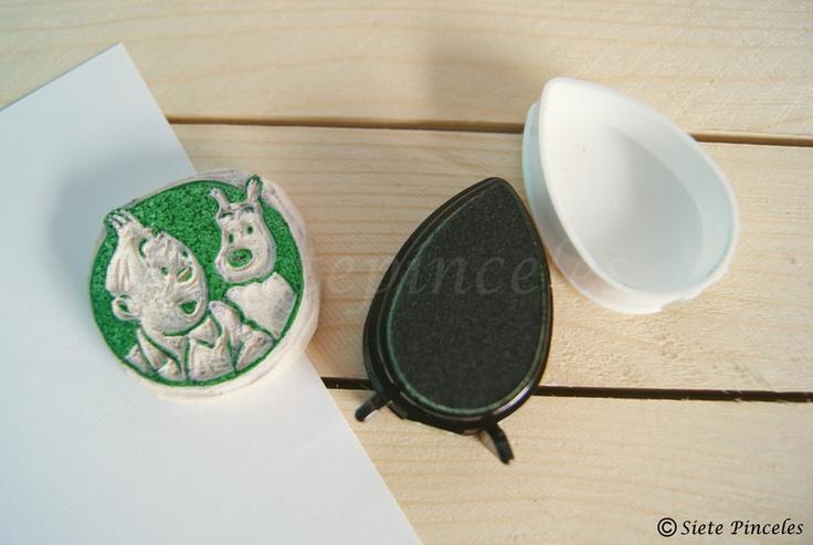 Stamp tintin milu carving tampons gravure