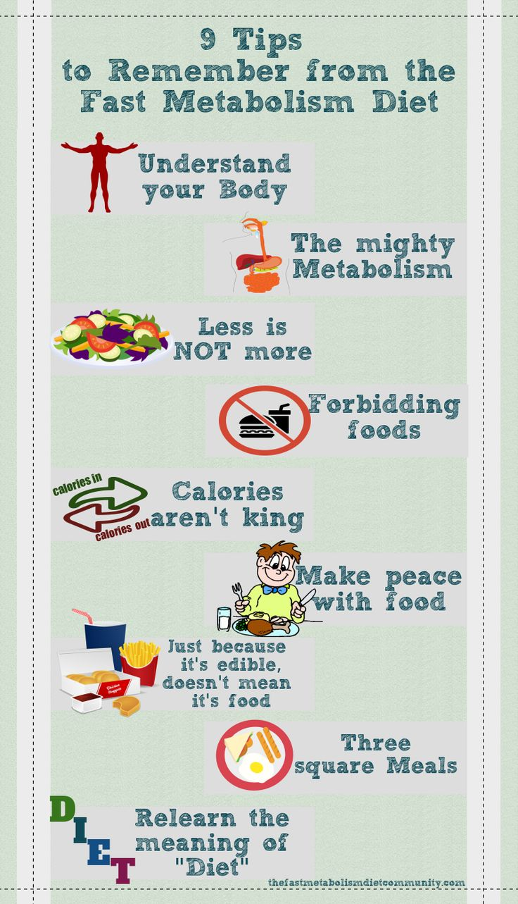 Fast metabolism diet reviews - The Following Are 9 Tips To Remember From The Fast Metabolism Diet 1 Understand Your