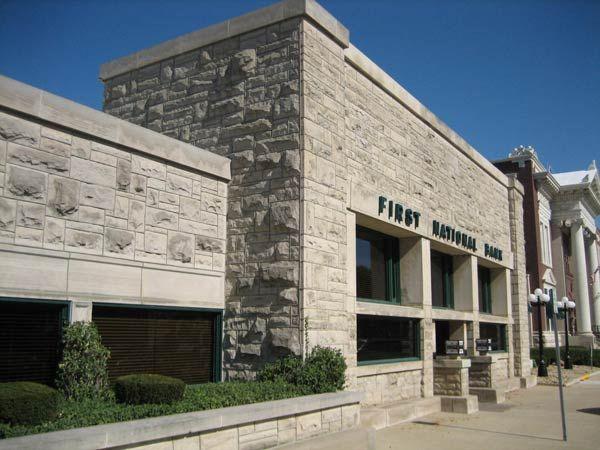 Фрэнк Ллойд Райт (Frank Lloyd Wright): Frank L. Smith Bank, Dwight, Illinois (Банк Фрэнка Л. Смита, Дуайт, Иллинойс ), 1905