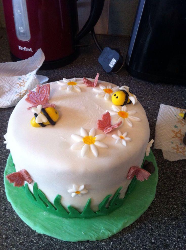 Spring marble cake