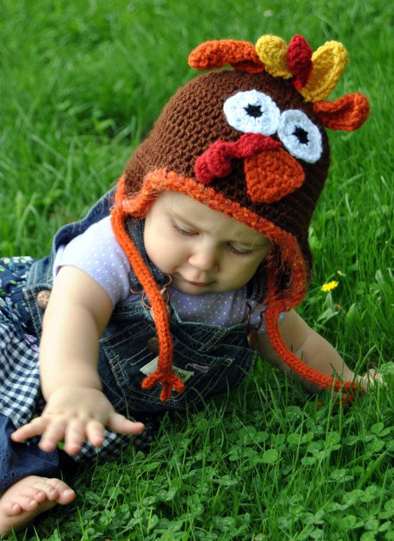 Crochet Turkey Hat SOMEONE PLEASE TEACH ME HOW TO DO THIS :)  This is adorable.