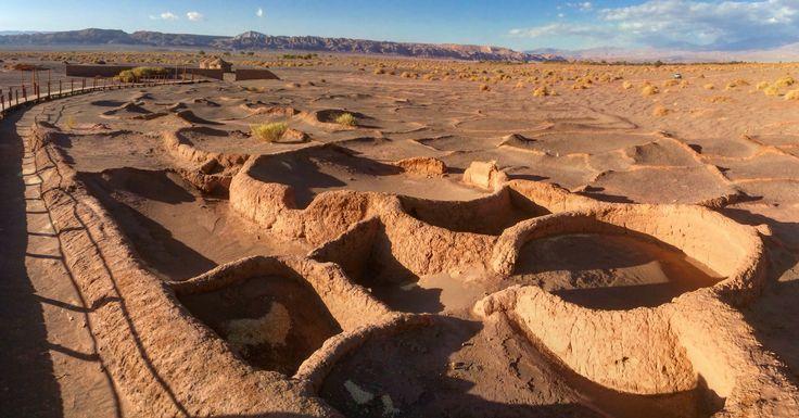 Acentamiento de hace 3000 años app  Tulor. San Pedro de Atacama. Chile