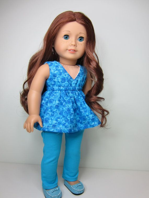 American Girl doll clothes Blue  skinny jeans by JazzyDollDuds, $24.00
