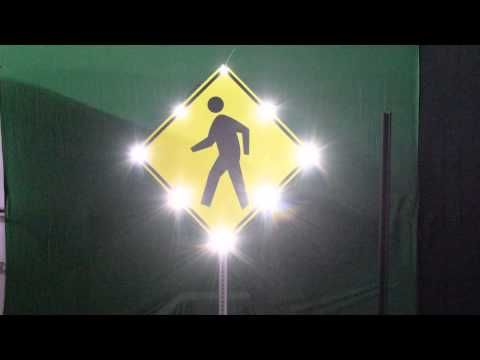 Solar Flashing Pedestrian Sign with Audible Warning by Solar Traffic Systems, Inc. 2015