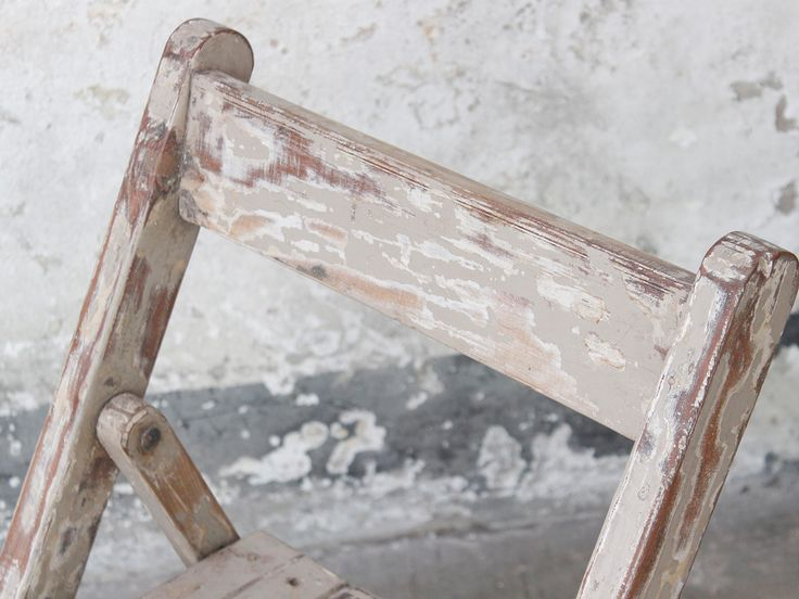 Cream Folding Chair Scaramanga's unique collection of global finds #boho #vintageliving #inspo