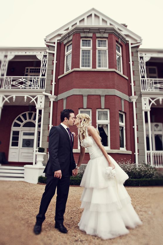 HAZELDEAN HALL   It's unique colonial architecture offers the perfect backdrop for a vintage and whimsical or elegant and contemporary wedding. (Photo via Teapots & Tulle)