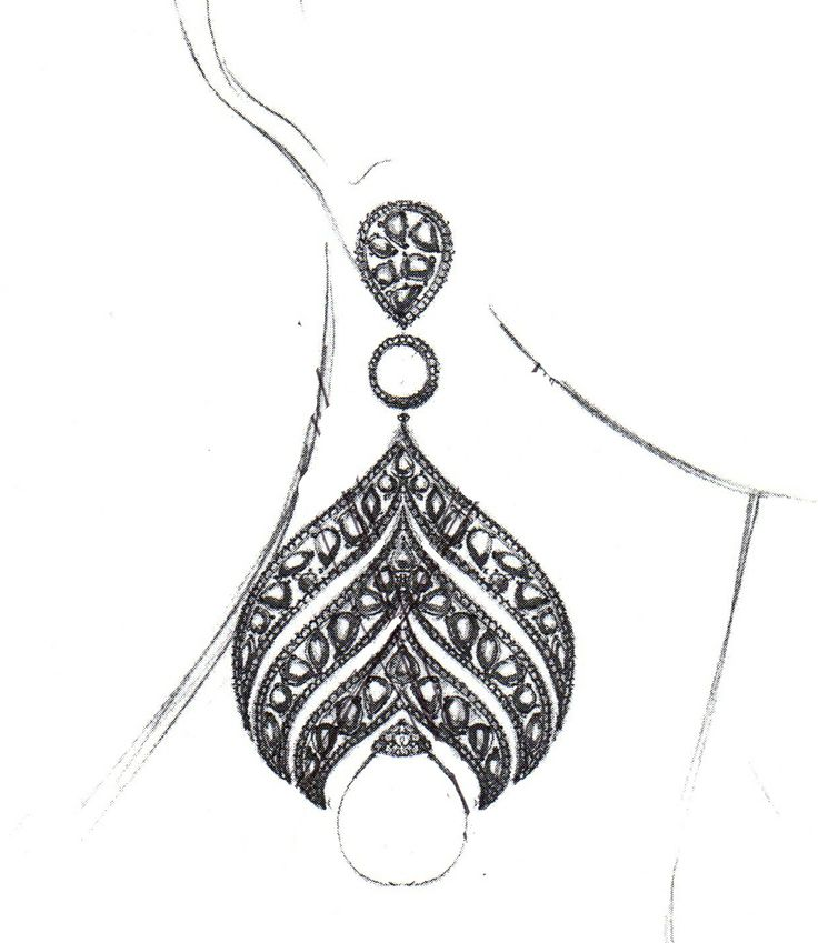 Sketch of an elegant new couture design we're looking to debut soon! #design #jewelry