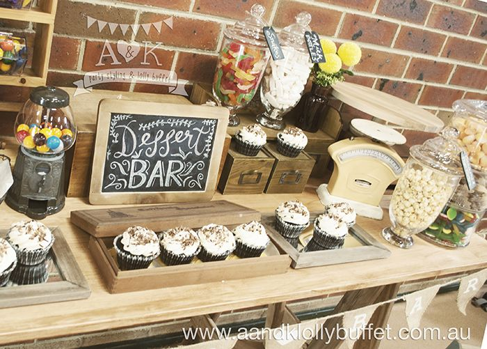 Nancy's Vintage Rustic 30th Birthday Party by A&K Lolly Buffet