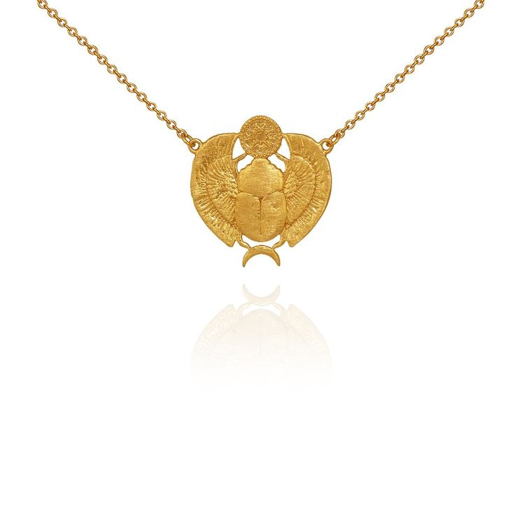 Scarab Necklace Gold - Temple of the Sun Jewellery