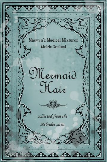 Mermaid Hair Potion Label by ~pigtailgoddess on deviantART