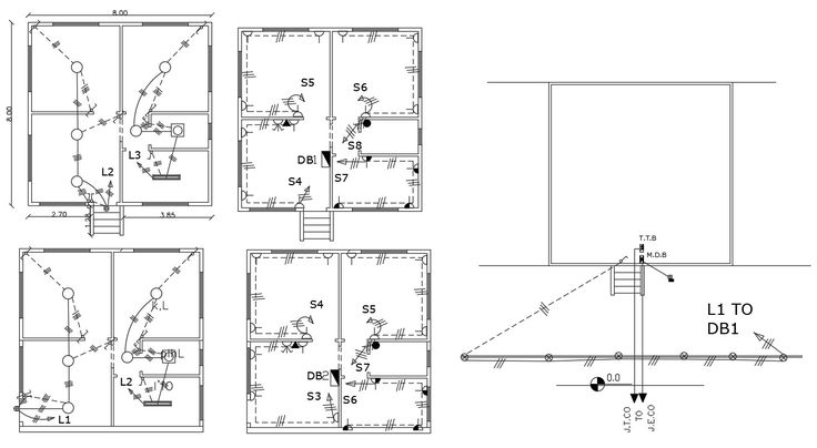 Electrical Layout Plan AutoCAD Drawing in 2020