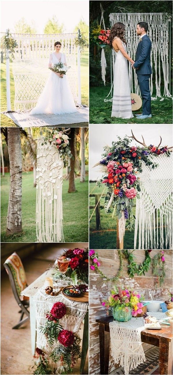 Bohemian Macrame Matters Knotted Wedding Decor Ideas