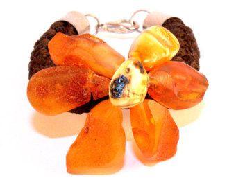 Baltic Amber Bracelet Flower Natural Baltic Amber beads