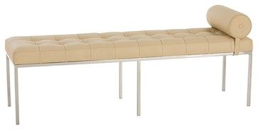 mordern bedroom bench in white   Grayson Bench contemporary-bedroom-benches