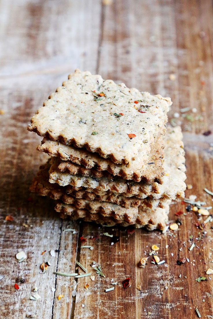Whole Wheat Italian Herb Flatbread Crackers - Breads and Pastry, Desserts and Snacks, Recipes - Divine Healthy Food