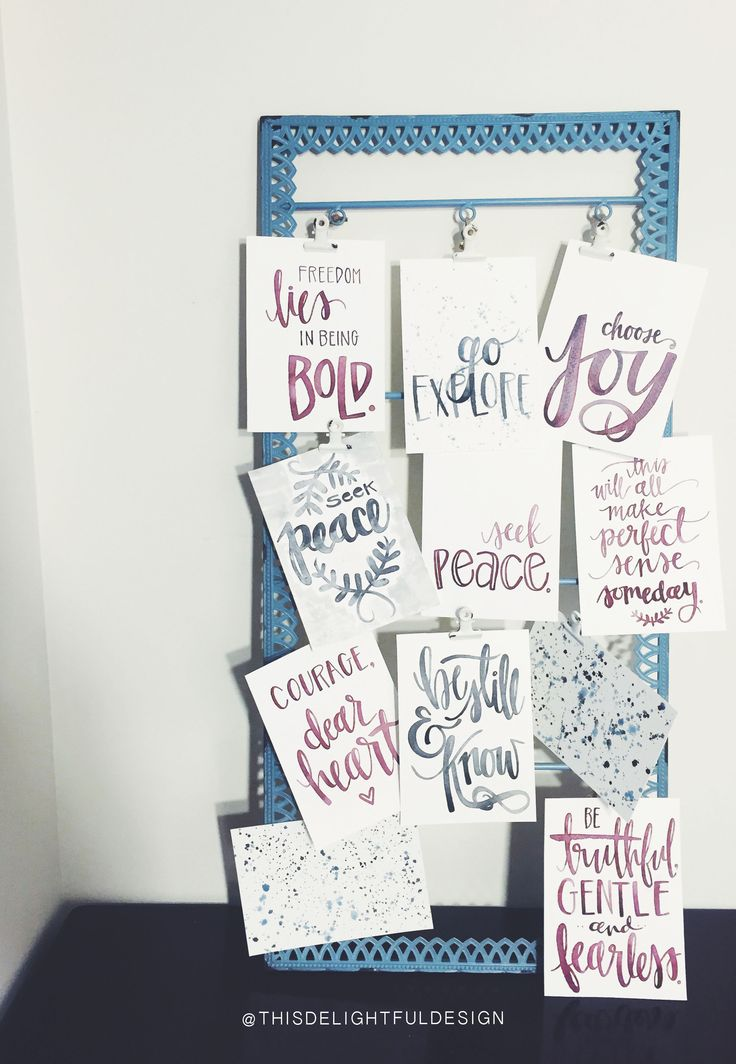 Watercolor   Home Decor   Modern Calligraphy   Typography   Signage   Quotes   Lryics     This Delightful Design by Katie Clark   katieclarkk.com