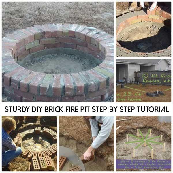1000 Ideas About Backyard Fire Pits On Pinterest: 1000+ Ideas About Brick Fire Pits On Pinterest