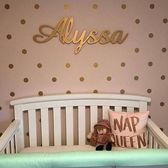 Baby Nursery name, Girl Nursery Decor, Wooden name Sign Wall Hanging, Nursery Name Sign, GOLD Glitter Name, Wall Decor This is our custom wooden name signs with GLITTER GOLD, we can create about everything. Custom orders are welcome. These are connected names, but no limitations, we can