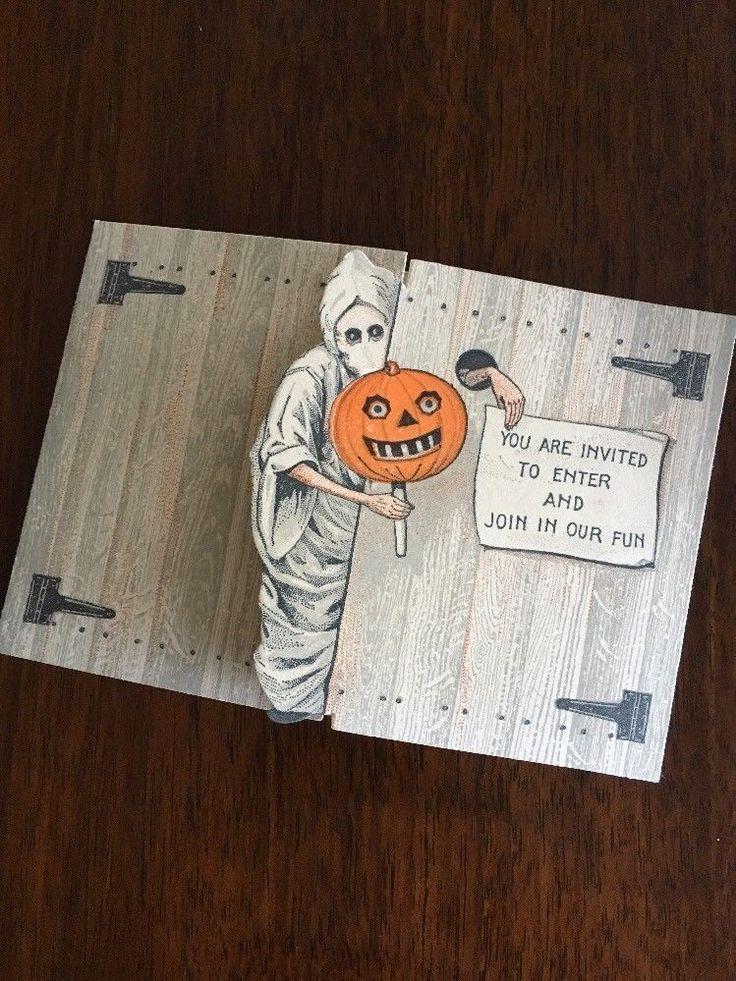 Vintage Halloween Card 1918