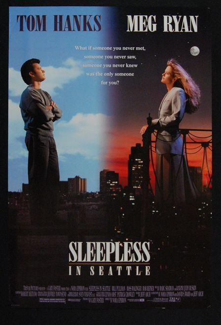 tom hanks movie posters | Sleepless in Seattle 1993 Meg Ryan Tom Hanks Original Movie Poster