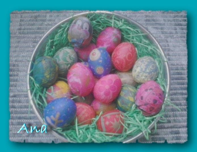 decoupaged eggs, by Ana