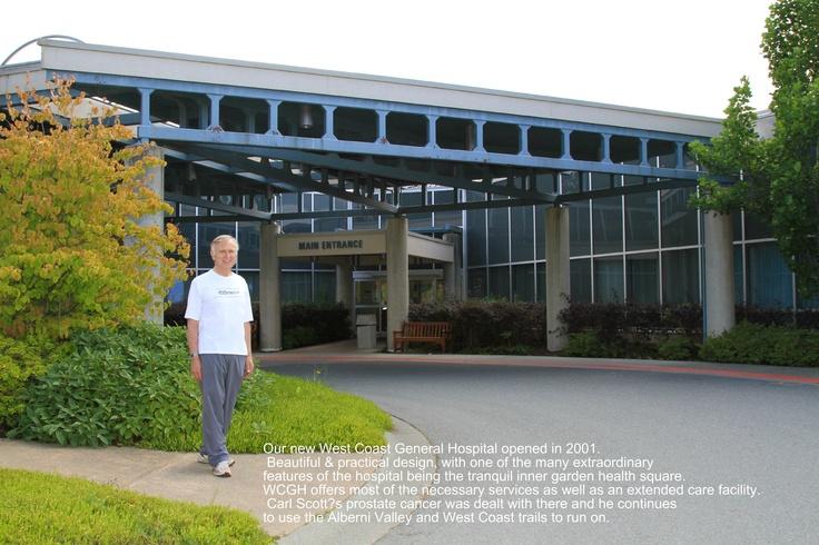 Carl Scott showcasing our beautiful West Coast General Hospital