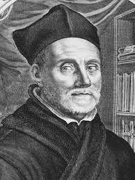 008 - Athanasius Kircher, nació en Hesse, 2 de mayo de 1601 o 1602 en Roma, falleció el 27 o 28 de noviembre de 1680,  fue sacerdote jesuita, políglota, erudito, estudioso orientalista, de espíritu enciclopédico y uno de los científicos más importantes de la época barroca. Aficionado a la ciencia, inventor y coleccionista se le considera un erudito en diversos campos del saber en los que publicó diversos tratados: el estudio del chino, la escritura universal (Novum hoc inventum quo omnia