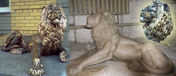 Бронзовая скульптура Льва, заказать или купить