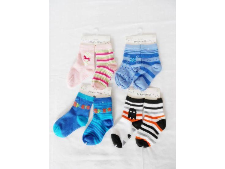 Veselé různobarevné ponožky v balení po 2 ks.