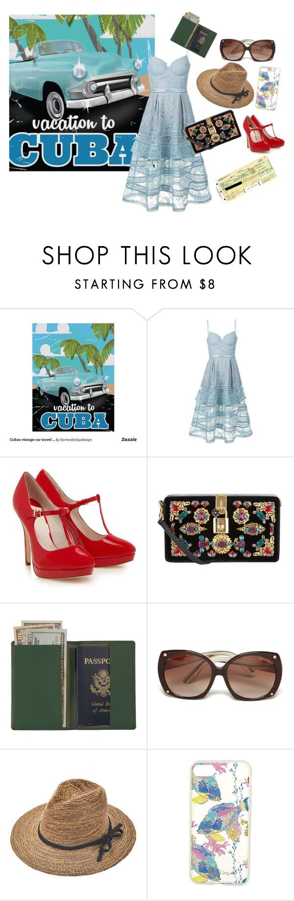"""""""Cuba"""" by cmg314 ❤ liked on Polyvore featuring self-portrait, Dolce&Gabbana, Royce Leather, Tom Ford, Lilly Pulitzer, Plane, StreetStyle, ootd, contestentry and cuba"""