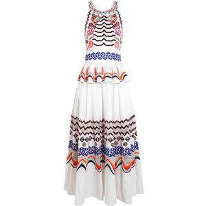 Темперли Лондон Spellbound вышитого хлопок-поплин миди платье